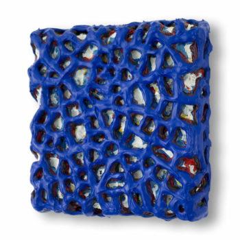Schilderij Blauw Raster, door Ragnar Madlener
