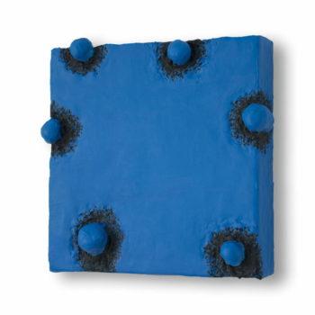 Schilderij Blauwe Pokken, door Ragnar Madlener