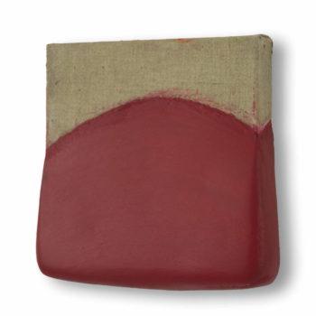 Schilderij Rode Stilte, door Ragnar Madlener